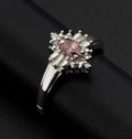 Estate Jewelry:Rings, Pink & White Diamond Gold Ring. ...