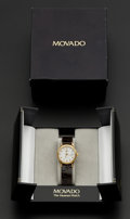 Timepieces:Wristwatch, Movado Museum 18k Gold Wristwatch. ...