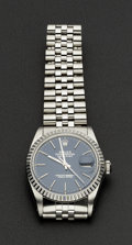 Timepieces:Wristwatch, Rolex Gent's Steel Ref. 16030 Oyster Perpetual Datejust, circa1985. ...