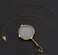 Estate Jewelry:Other , Gold Lorgnette With Gold Filled Chain. ...