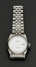 Timepieces:Wristwatch, Rolex Ref. 16013 Gent's Steel Oyster Perpetual Datejust, circa 1985. ...