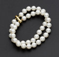Estate Jewelry:Pearls, Cultured Double Strand Bracelet. ...