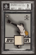 Baseball Cards:Singles (1970-Now), 2001 Upper Deck Gold Glove Game Jersey Mickey Mantle #GG-MMaBGS Mint 9. ...