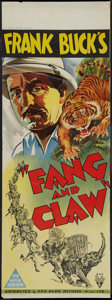 "Movie Posters:Adventure, Fang and Claw (RKO, 1935). Australian Pre-War Daybill (14.75"" X40""). Adventure.. ..."