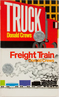 Books:Children's Books, Donald Crews. Two INSCRIBED Children's Books including: FreightTrain. Greenwillow Books, 1978. First edition. Inscr... (Total:2 Items)