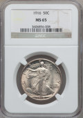 Walking Liberty Half Dollars, 1916 50C MS65 NGC....