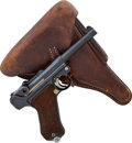 Handguns:Semiautomatic Pistol, German Mauser Model P08 1937 S42 Luger Semi-Automatic Pistol with Holster....