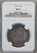 Bust Half Dollars, 1827 50C Square Base 2 MS61 NGC. O-128, Low R.4....