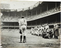 "Baseball Collectibles:Photos, The Largest Known Vintage Print of Pulitzer Prize-WinningPhotograph ""The Babe Bows Out.""..."