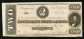 Confederate Notes:1864 Issues, T-70 $2 1863 PF-5 State I Cr. 567.. ...