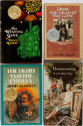 Books:Children's Books, [Young Adult Literature] Four SIGNED/INSCRIBED Young Adult Booksincluding: Ellen Raskin. The Westing Game. ... (Total: 4Items)