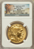 Modern Bullion Coins, 2013 G$50 One-Ounce American Buffalo, 100th Anniversary FirstReleases MS70 NGC. .9999 Fine. NGC Census: (0). PCGS Populati...