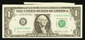 Error Notes:Attached Tabs, Fr. 1912-G $1 1981A Federal Reserve Note. Choice CrispUncirculated.. ...