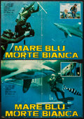 """Movie Posters:Documentary, Blue Water, White Death (National General, 1971). Italian Photobustas (4) (17.75"""" X 25.25""""). Documentary.. ... (Total: 4 Items)"""