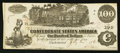 Confederate Notes:1862 Issues, T39 $100 1862 PF-8 Cr. UNL.. ...