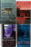 Books:Mystery & Detective Fiction, [Mystery]. Bruce Alexander and Robert Barnard. Group of Four First Edition, First Printing Books, Three Signed or Inscribed.... (Total: 4 Items)