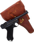 Handguns:Semiautomatic Pistol, Portuguese Model P08 1942 byf Code Luger Semi-Automatic Pistol withHolster.. ...