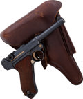 Handguns:Semiautomatic Pistol, German DWM Model P08 Commercial Luger Semi-Automatic Pistol with Holster....