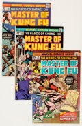 Bronze Age (1970-1979):Superhero, Master of Kung Fu Savannah pedigree Group (Marvel, 1975-81) Condition: Average VF/NM.... (Total: 42 Comic Books)
