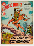 Golden Age (1938-1955):Classics Illustrated, Classic Comics #4 The Last of the Mohicans - First Edition (Gilberton, 1942) Condition: VG....