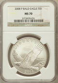 Modern Issues, 2008-P $1 Bald Eagle MS70 NGC. NGC Census: (6520). PCGS Population(842). Numismedia Wsl. Price for problem free NGC/PCGS ...