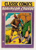 Golden Age (1938-1955):Classics Illustrated, Classic Comics #10 Robinson Crusoe - First Edition 1A (Gilberton,1943) Condition: GD/VG....