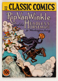 Golden Age (1938-1955):Classics Illustrated, Classic Comics #12 Rip Van Winkle and the Headless Horseman - FirstEdition (Gilberton, 1943) Condition: FN/VF....