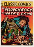 Golden Age (1938-1955):Horror, Classic Comics #18 The Hunchback of Notre Dame - First Edition 1B(Island Publishing, 1944) Condition: FN-....