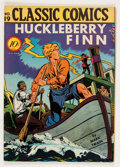 Golden Age (1938-1955):Classics Illustrated, Classic Comics #19 Huckleberry Finn - First Edition 1A (Gilberton, 1944) Condition: FN/VF....