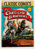 Golden Age (1938-1955):Classics Illustrated, Classic Comics #20 The Corsican Brothers - First Edition 1A(Gilberton, 1944) Condition: FN-....
