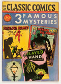 Golden Age (1938-1955):Classics Illustrated, Classic Comics #21 3 Famous Mysteries - First Edition 1A(Gilberton, 1944) Condition: VG-....