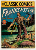 Golden Age (1938-1955):Classics Illustrated, Classic Comics #26 Frankenstein - First Edition (Gilberton, 1945)Condition: VG....