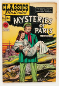 Golden Age (1938-1955):Classics Illustrated, Classics Illustrated #44 Mysteries of Paris - First Edition (Gilberton, 1947) Condition: VG-....