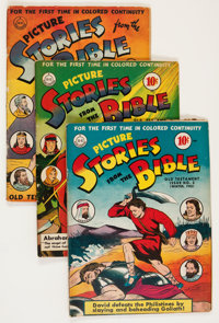 Picture Stories from the Bible: Old Testament Editions #1-3 Group (DC, 1942-43).... (Total: 3 Comic Books)