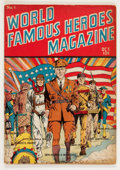 Golden Age (1938-1955):Non-Fiction, World Famous Heroes Magazine #1 (Centaur, 1941) Condition:VG/FN....