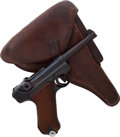 Handguns:Semiautomatic Pistol, German Mauser Model P08 S42 Luger Semi-Automatic Pistol withHolster....