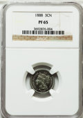 Proof Three Cent Nickels: , 1888 3CN PR65 NGC. NGC Census: (369/182). PCGS Population(404/192). Mintage: 4,582. Numismedia Wsl. Price for problemfree...