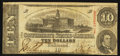 Confederate Notes:1863 Issues, T59 $10 1863 PF-11 Cr. 429 Ad Note.. ...
