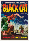 Golden Age (1938-1955):Horror, Black Cat Mystery #48 (Harvey, 1954) Condition: FN/VF....