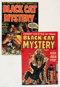 Golden Age (1938-1955):Horror, Black Cat Mystery #33 and 36 Group (Harvey, 1952) Condition:Average Apparent VF-.... (Total: 2 Comic Books)
