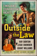 "Movie Posters:Crime, Outside the Law (Universal International, 1956). One Sheet (27"" X 41""). Crime.. ..."