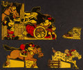 """Movie Posters:Animation, Mickey Mouse Cereal Box Cut-Outs (Post Toasties & WaltDisney,1934). Stand Up Paper Toys (4) (1.5"""" X 2.5"""", 3"""" X 4.5, 3.5""""X ... (Total: 4 Items)"""