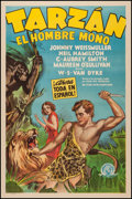 "Movie Posters:Adventure, Tarzan the Ape Man (MGM, 1932). Spanish Language One Sheet (27"" X41""). Adventure.. ..."