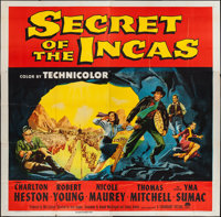 "Secret of the Incas (Paramount, 1954). Six Sheet (79"" X 79""). Adventure"