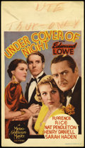 "Movie Posters:Mystery, Under Cover of Night (MGM, 1937). Mini Window Card (8"" X 14"").Mystery.. ..."