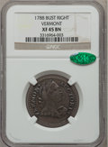 Colonials, 1788 COPPER Vermont Copper, Bust Right XF45 NGC. CAC. RR-25,Bressett 16-U, W-2195, R.3....