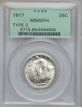 Standing Liberty Quarters, 1917 25C Type Two MS65 Full Head PCGS....