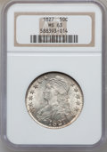 Bust Half Dollars, 1827 50C Square Base 2 MS63 NGC. O-114, R.3....
