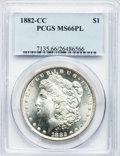 Morgan Dollars, 1882-CC $1 MS66 Prooflike PCGS....