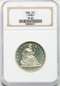 Proof Seated Half Dollars, 1882 50C PR62 Cameo NGC....